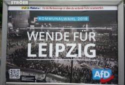 Für die Werbeaussage ist allein die werbende Partei verantwortlich. Foto: Bürgerkomitee Leipzig e.V.