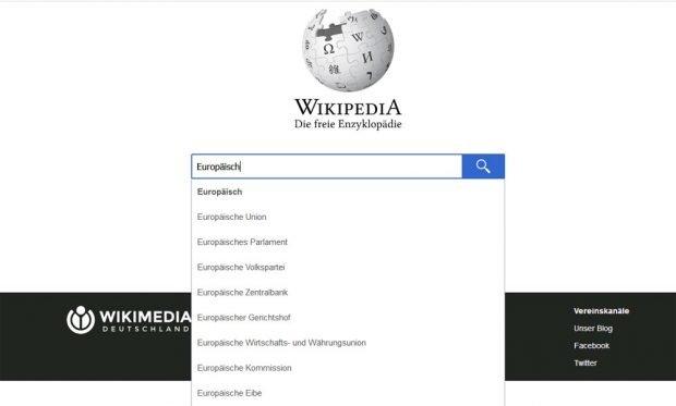 "Wikipedia-Angebot zu ""Europäisch..."". Screenshot: L-IZ"