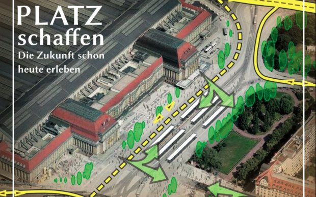 Die Vision des ADFC Leipzig zum Bahnhofsvorplatz. Bild: ADFC Leipzig