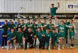 B-Jugend des SC DHfK Leipzig nach dem Finaleinzug. Foto: Daniel Steinkuhl