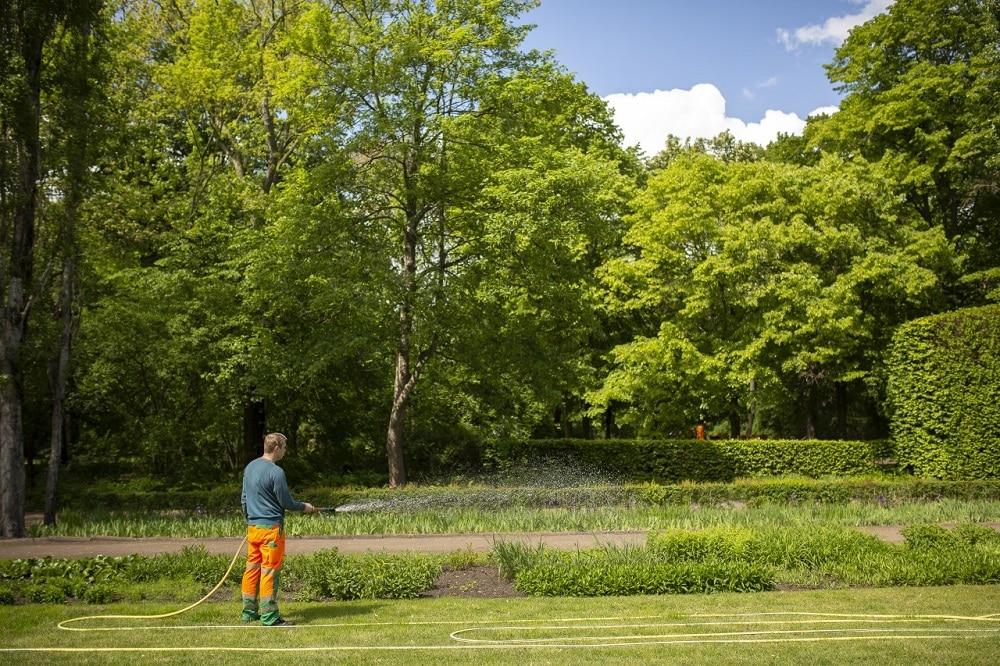 Bewässerung Stauden Mariannenpark, Foto: Stadtreinigung