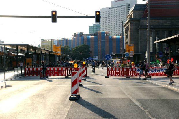 Die Mehrheit im Stadtrat Leipzig ist für einen autofreien Ring vor dem Hauptbahnhof. Foto: L-IZ.de