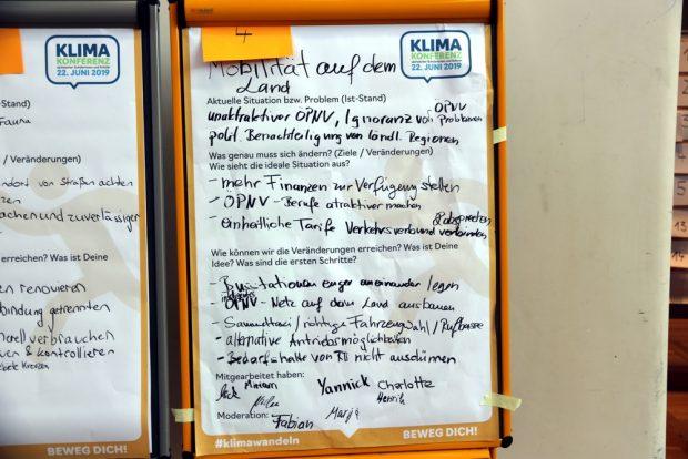 Die Vorschläge aus der Mobilitätsgruppe Land waren deutlich: mehr Geld in den Nahverkehr und bedarfsabhängige Lösungen. Foto: L-IZ.de