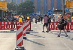 Für drei Stunden dicht - der Ring vor dem Hauptbahnhof. Foto: L-IZ.de