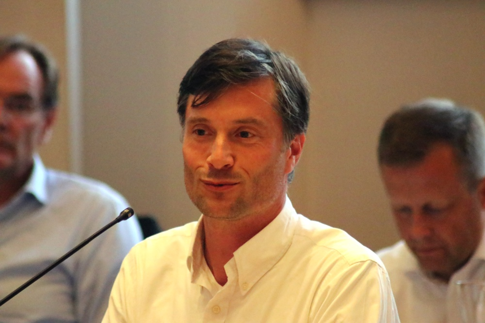 Ordnungs- und Umweltbürgermeister Heiko Rosenthal (Linke) im Stadtrat Leipzig. Foto: LZ