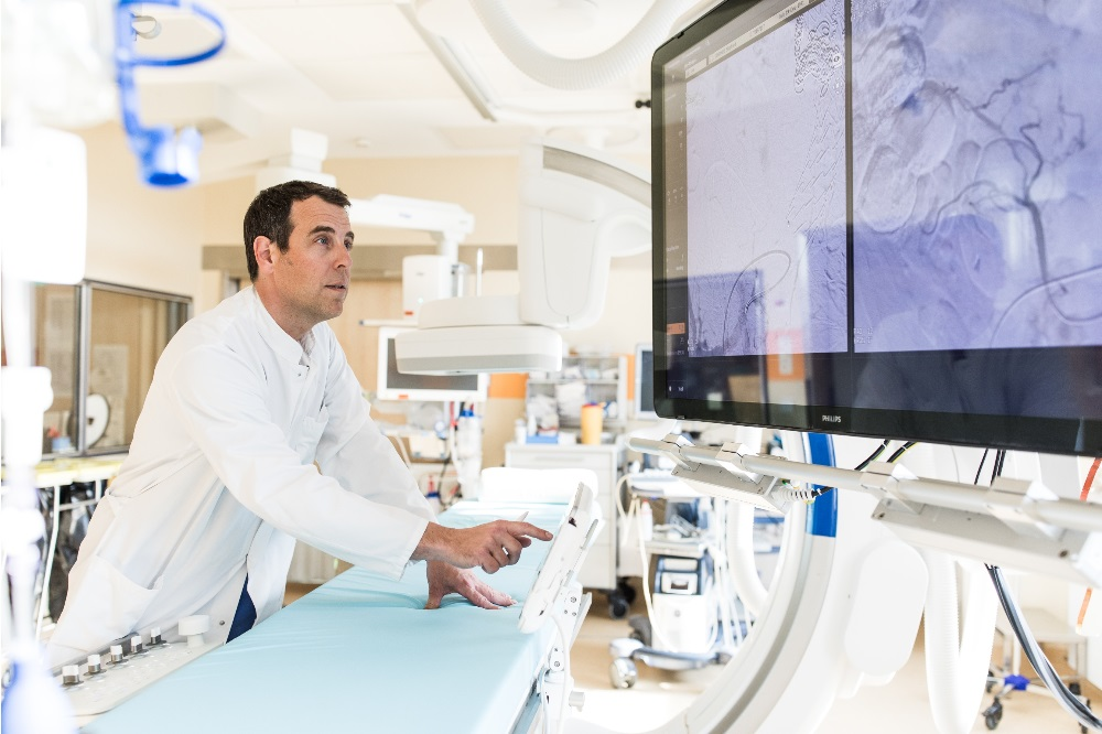 Interventionelle Radiologie, Dr. Michael Moche. Foto: Christian Hüller