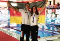 Max und Elena Poschardt, EM Apnoe-Tauchen. Quelle: SC DHfK Leipzig