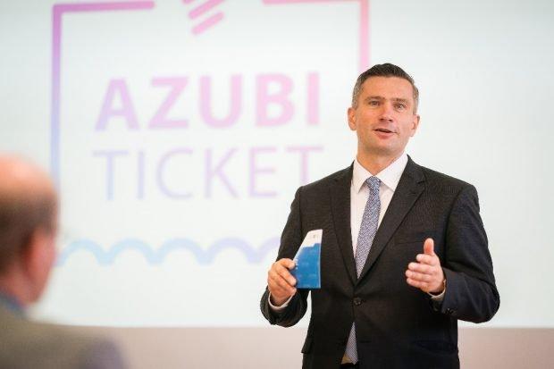 Startschuss für das AzubiTicket Sachsen. Quelle: SMWA