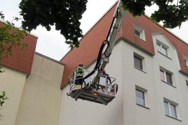 Die Rettungsaktion am letzten Dienstag, anschließend stellte der NABU Strafanzeige gegen den Auftraggeber. Foto: NABU Leipzig