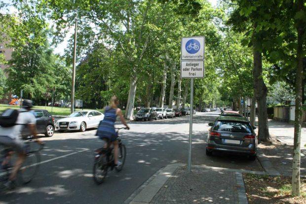 Die Beethovenstraße ist jetzt offiziell Fahrradstraße. Foto: Ralf Julke