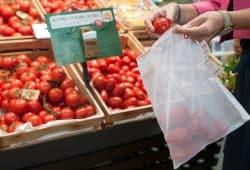Das von REWE angebotene Plastik-Frischenetz. Foto: REWE