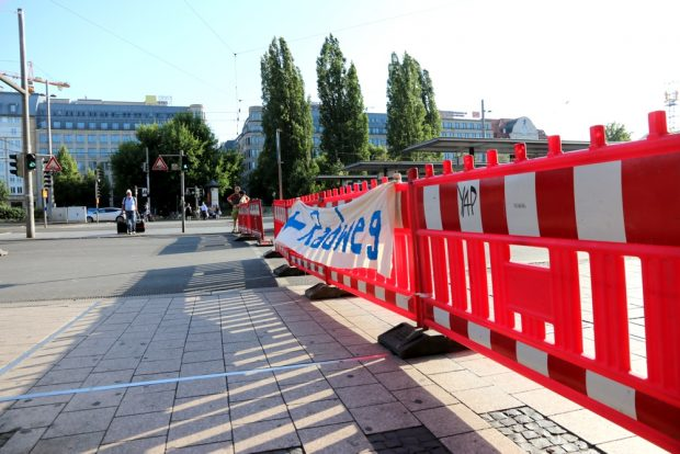 Freier Fußgänger-Übergang an Ost- und Westseite des Hauptbahnhofes. Foto: L-IZ.de
