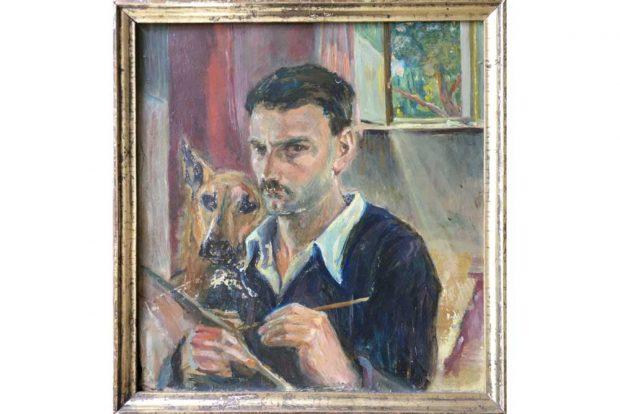 Selbstporträt Immanuel Chamizer, Öl auf Leinwand, 1947. Foto: privat
