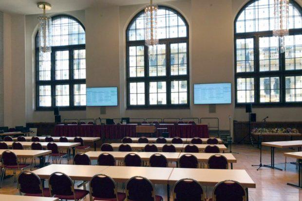 Diesmal bleiben die Plätze im Situngssaal leer. Foto: L-IZ.de