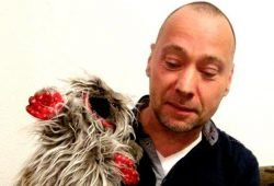 Michael Oertel mit Helfe-Elfe. Foto: Michael Oertel
