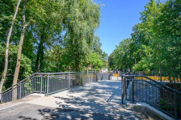 Die neue Brücke der verlängerten Turmgutstraße. Foto: Stadt Leipzig/ Henning Croissant