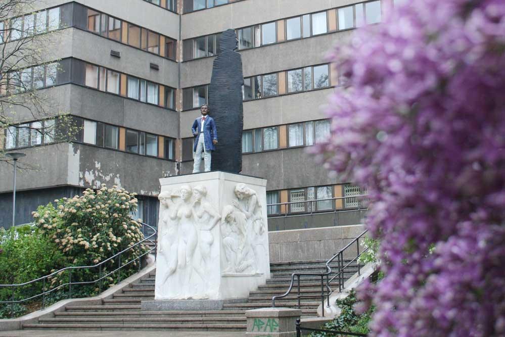Wagner-Denkmal am Promenadenring. Foto: Ralf Julke