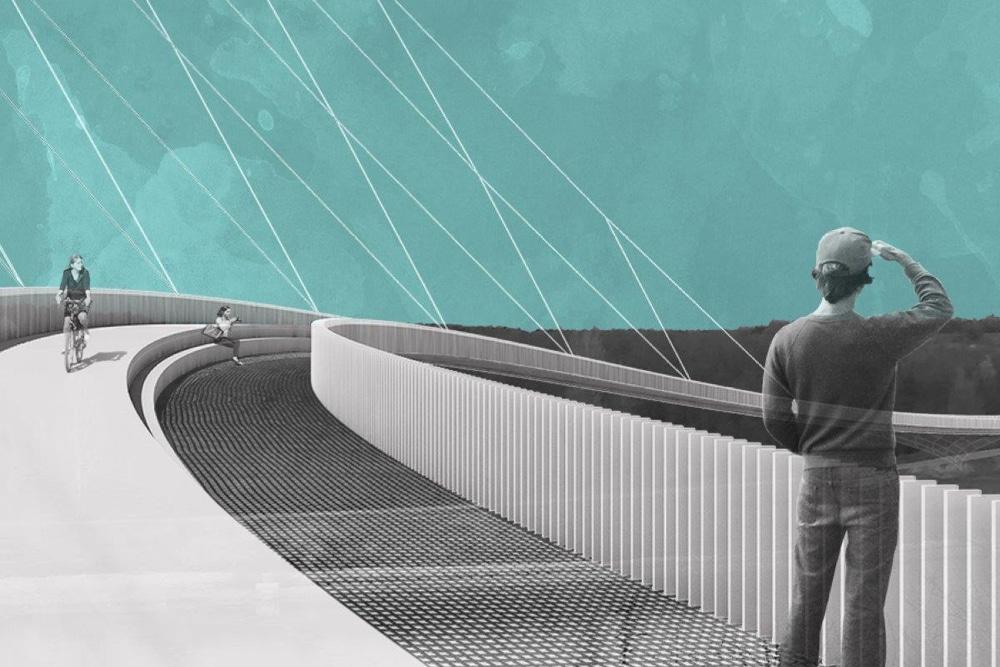 """Der Entwurf """"Westkurve"""" von Hagen Ludwig und Timm Fröhlich. Visualisierung: Ludwig-Fröhlich/HTWK Leipzig"""