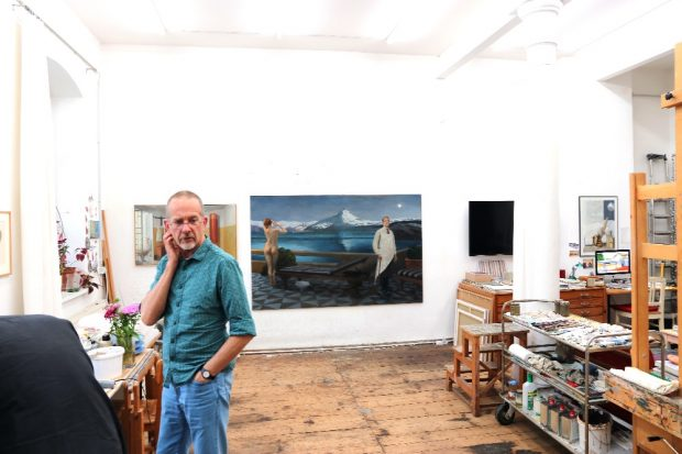 Axel Krause in seinem Leipziger Atelier. © Michael Freitag