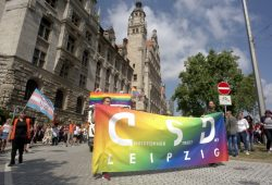 CSD vorm Neuen Rathaus. Foto: Alexander Böhm