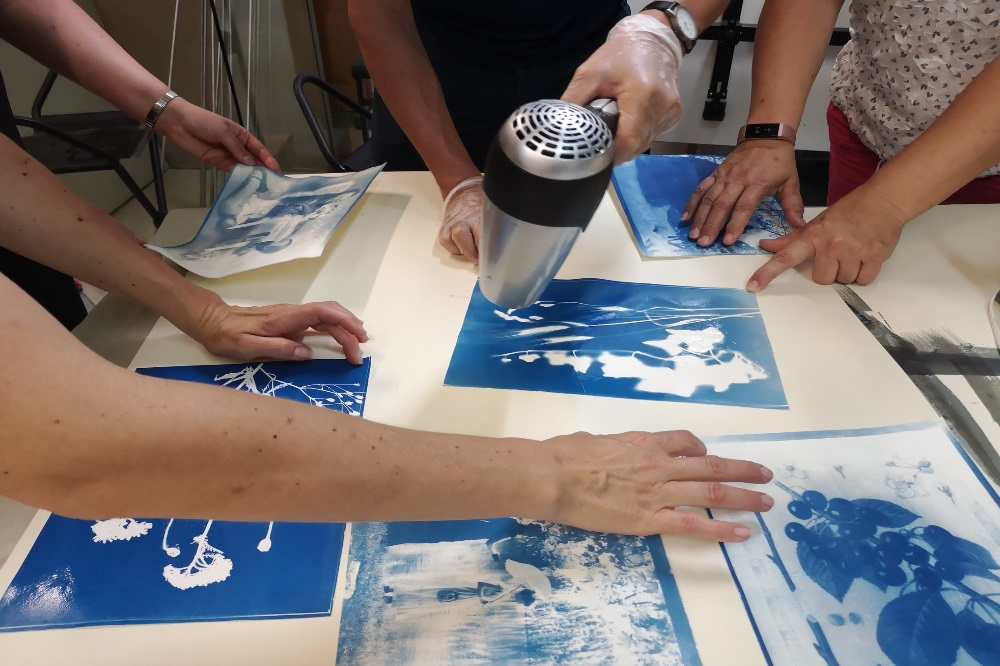 Cyanotypie-Workshop. Foto: SGM