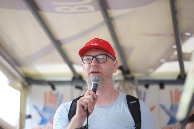 DGB-Regionsgeschäftsführer Erik Wolf. Foto: Alexander Böhm