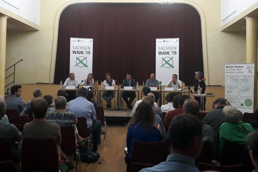 Das Wahlforum zur Landtagswahl im Juli 2019 in Wurzen. Foto: René Loch