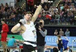 David Storl bei den Deutschen Hallenmeisterschaften. Quelle: SC DHfK Leipzig