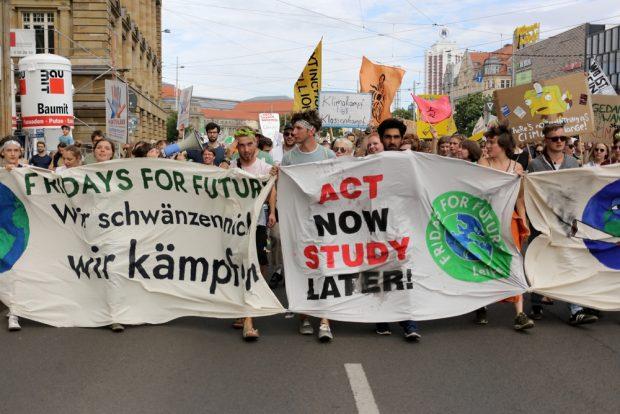 Der Fridays for Future Block. Foto: Alexander Böhm