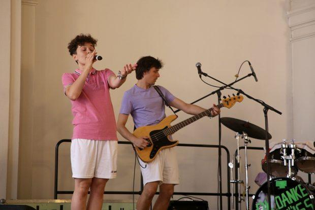 Die Band ok.danke.tschüss lieferte die musikalische Untermalung. Foto: Alexander Böhm
