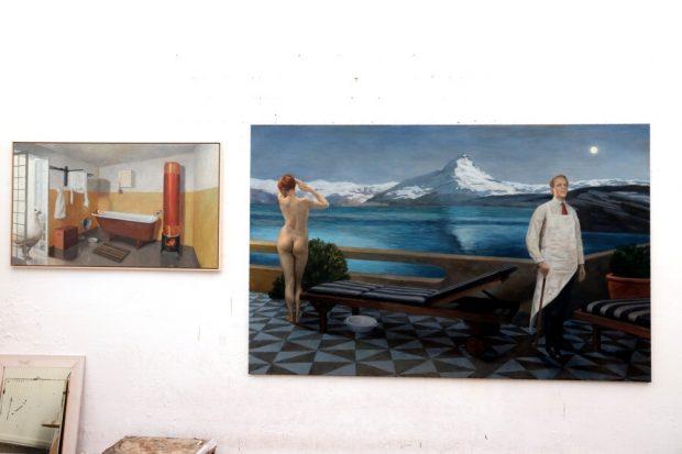 Die Bilder von Axel Krause, welche in der Jahresausstellung nicht zu sehen waren. Foto: Michael Freitag