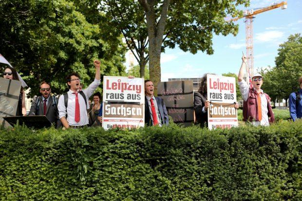 Die Partei fordert den Lexit. Foto: Alexander Böhm