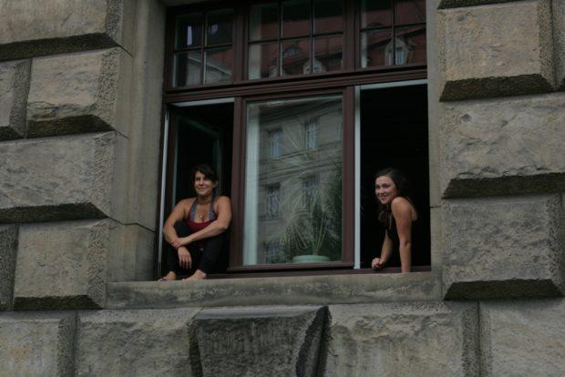 Ihre Proben unterbrachen zwei Studentinnen an der HMT Foto: Sebastian Beyer