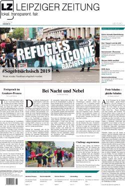 Die LEIPZIGER ZEITUNG, Ausgabe Juli 2019, ab 19.07. im Handel. Klicken zum Vergrößern. Bild: LZ