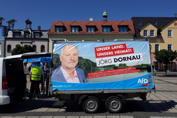 AfD-Kundgebung in Naunhof. Foto: René Loch