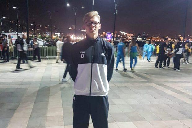 Niclas Heitkamp in Baku. Quelle: Privat