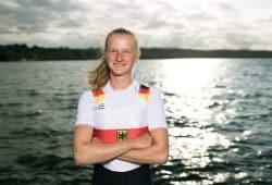 SC DHfK-Ruderin Johanna Reichardt. Quelle: DRV/Schwier