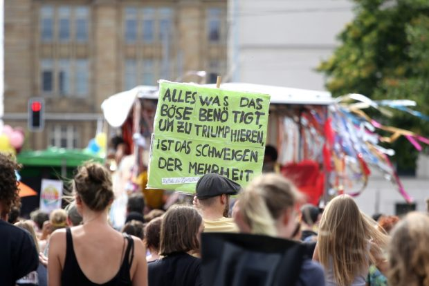 Schweigen der Mehrheit. Foto: Alexander Böhm