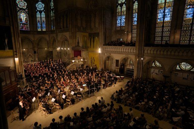 War Requiem der Leipziger Universitätsmusik in der Peterskirche. Foto: Alexander Böhm