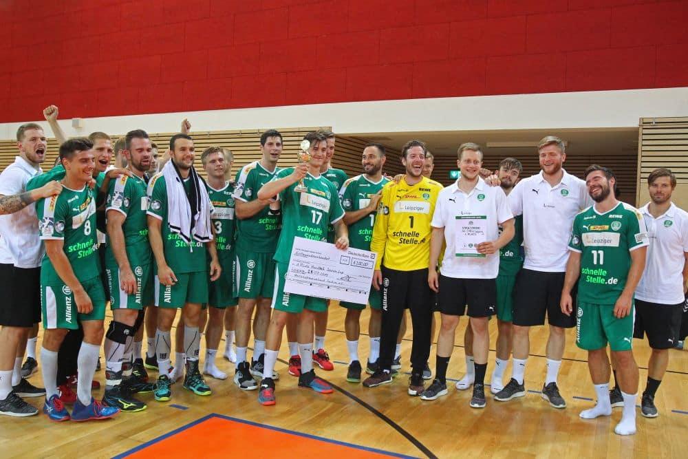 Der SC DHfK Leipzig ist Sachsen-Cup-Sieger 2019. Foto: Jan Kaefer