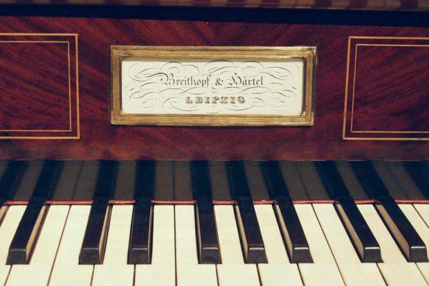 Auch dieses Tafelklavier (Detail) von Breitkopf & Härtel, Leipzig, aus dem Jahre 1846 wird in der Ausstellung gezeigt. Foto: Musikinstrumentenmuseum der Universität Leipzig (4506)