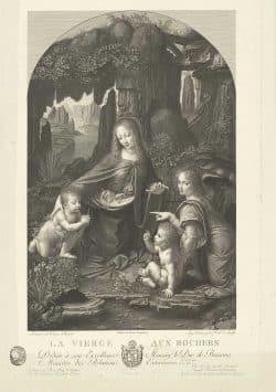Auguste Gaspard Louis Desnoyers, Felsengrottenmadonna (nach Leonardo da Vinci), 1811, Maximilian Speck von Sternburg Stiftung im MdbK. Foto: MdbK