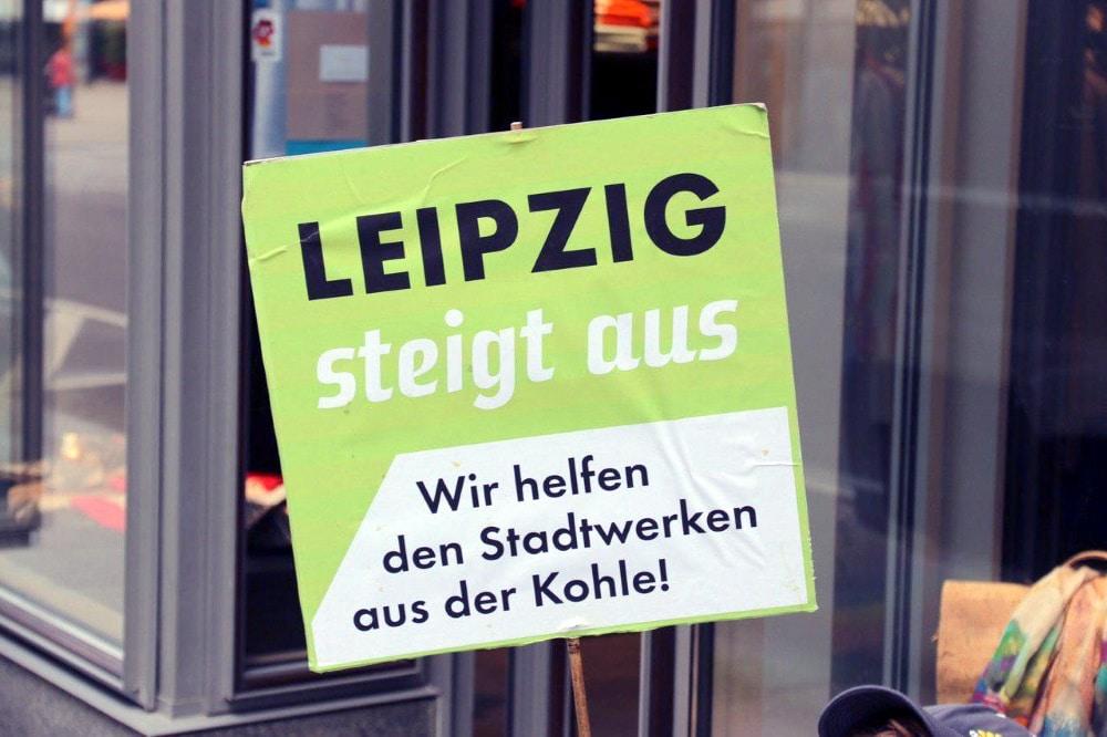 Demo am 2. Juli vorm Sitz der Stadtwerke Leipzig. Foto: L-IZ.de