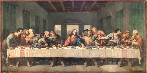 James Marshall, Das Abendmahl (nach Leonardo Da Vinci), 1889, Ev.-Luth. Kirchgemeinde St. Thomas Leipzi. Foto: Martin Weicke