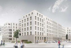 LWB Neubauvorhaben an der Bernhard-Göring-/Hohe Straße. Visualisierung: Peter Zirkel GvA, Dresden