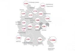 Medianlöhne nach Bundesländern. Grafik: Arbeitsagentur Sachsen