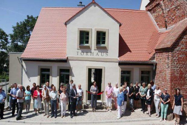 Einweihung des Torhauses am Burgberg. Foto: Stadtverwaltung Eilenburg