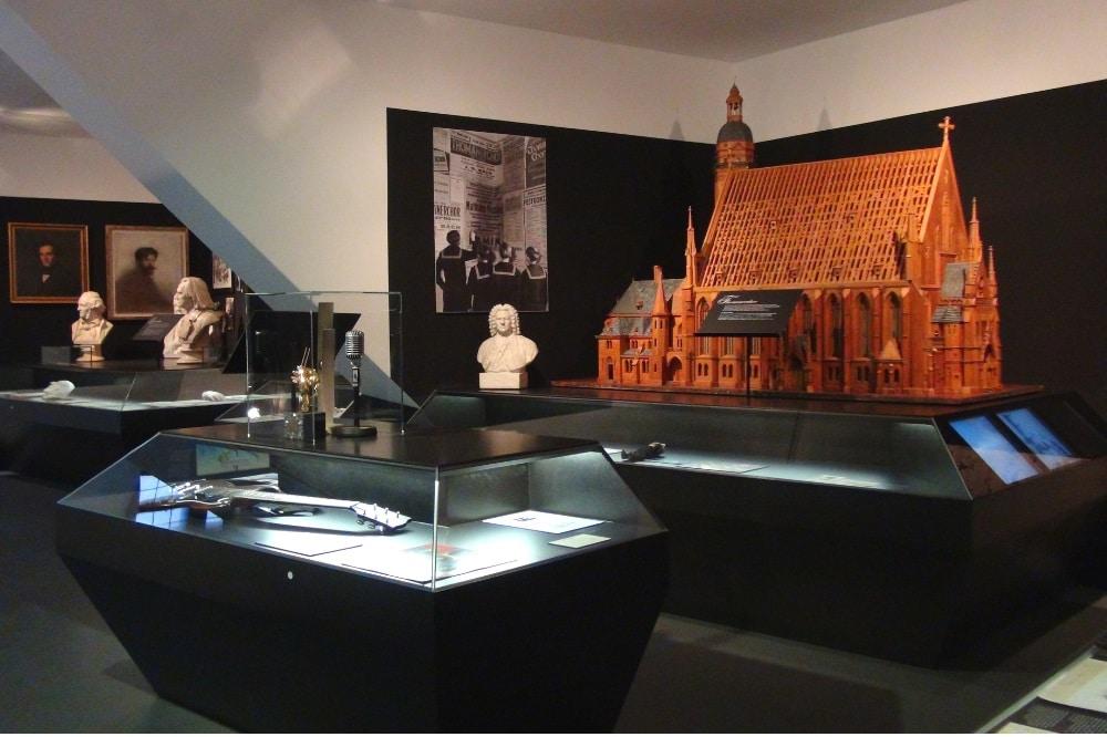 Ausstellungsteil Musikstadt Leipzig, Altes Rathaus 2. OG. Foto: SGM