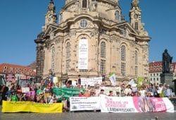 Erste Agrarwende-Demo in Dresden. Quelle: AbL Mitteldeutschland
