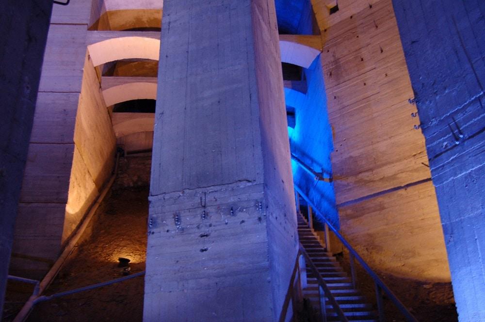 Foto vom Fundamentbereich des Völkerschlachtdenkmals ,